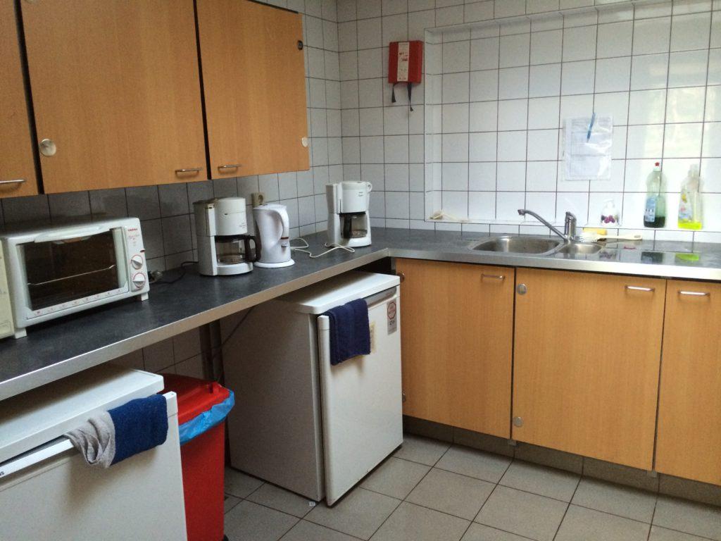 De linkerkant van de keuken