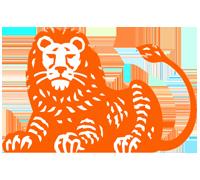 Het logo van ING