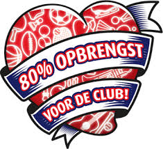 80% opbrengst voor de club
