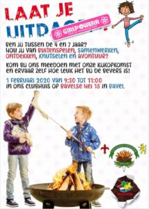 Flyer met informatie over het Girlpower evenement.