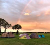 Tenten op scoutskamp